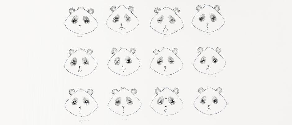 Dessin panda expressions