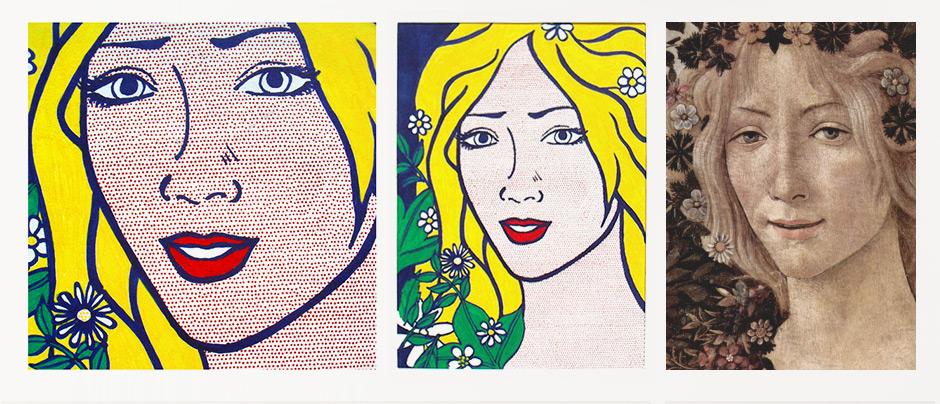 Printemps Boticceli Lichtenstein