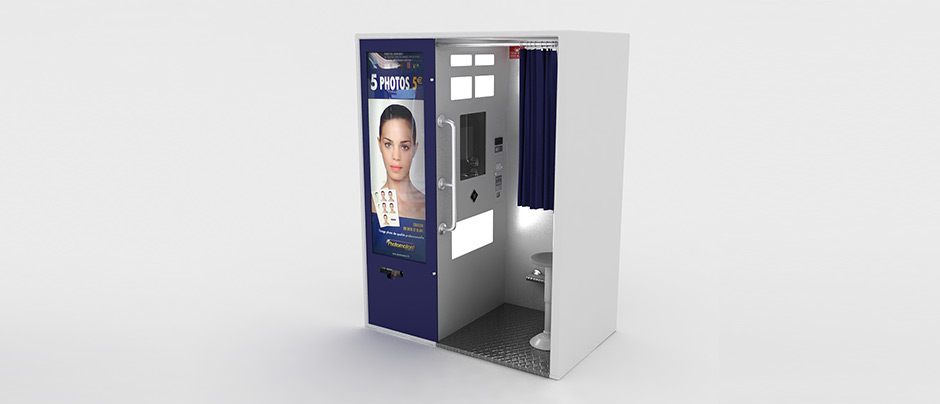 3d infographiste projet  stand photomaton    auchan