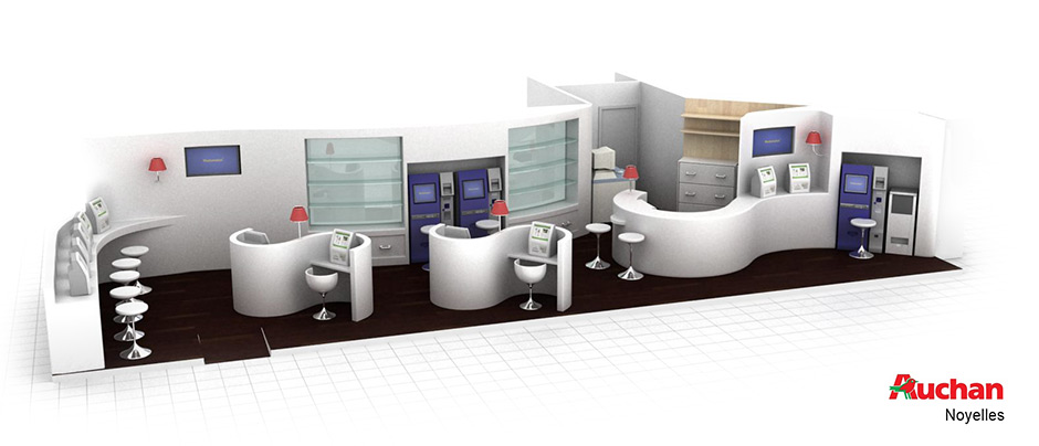 3d infographiste projet stand photomaton auchan 3d infographiste. Black Bedroom Furniture Sets. Home Design Ideas